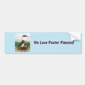 Pouter Pigeon Red Hana Bumper Sticker
