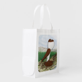 Pouter Pigeon Red Hana Grocery Bag