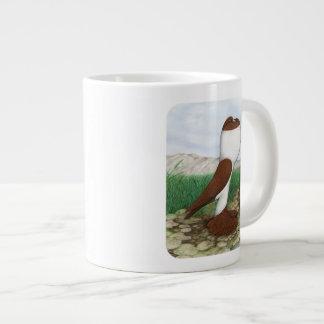 Pouter Pigeon Red Hana Large Coffee Mug