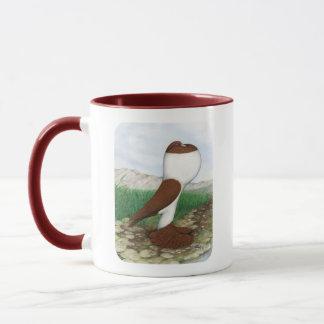 Pouter Pigeon Red Hana Mug
