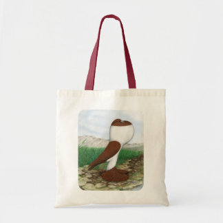 Pouter Pigeon Red Hana Tote Bag