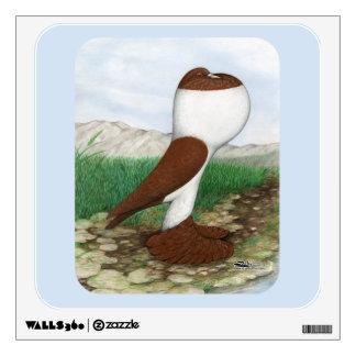 Pouter Pigeon Red Hana Wall Sticker