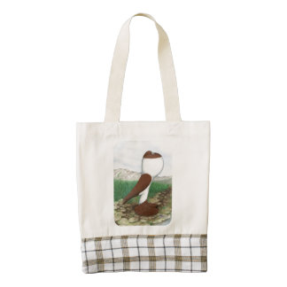 Pouter Pigeon Red Hana Zazzle HEART Tote Bag
