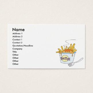 poutine business card