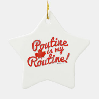 Poutine is my Routine Double-Sided Star Ceramic Christmas Ornament