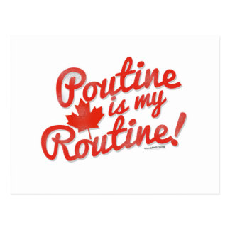Poutine is my Routine Postcard