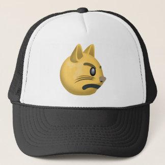Pouting Cat Face Emoji Trucker Hat