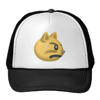 Pouting Cat Face Emoji Trucker Hat