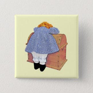 Pouting Doll Customizable Button