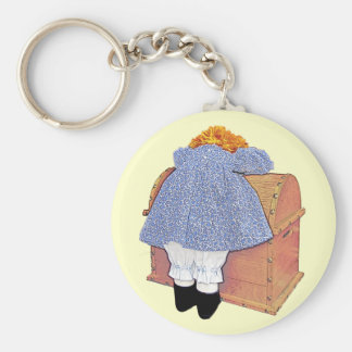 Pouting Doll Customizable Keychain