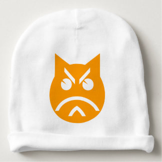 Pouting Emoji Cat Baby Beanie