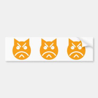 Pouting Emoji Cat Bumper Sticker