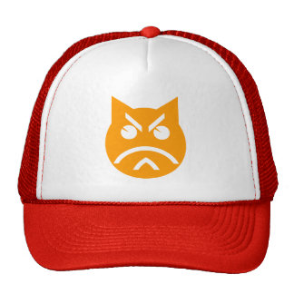 Pouting Emoji Cat Trucker Hat