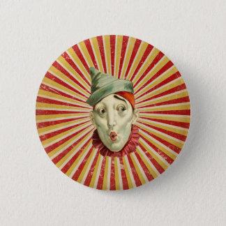 Pouting Vintage Circus Clown Button