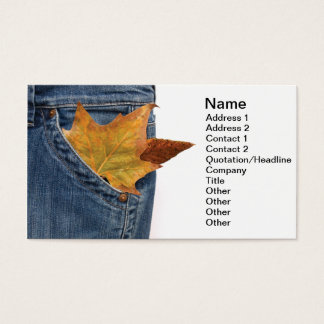 Poverty Business Card