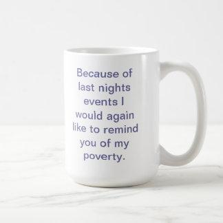Poverty Coffee Mug