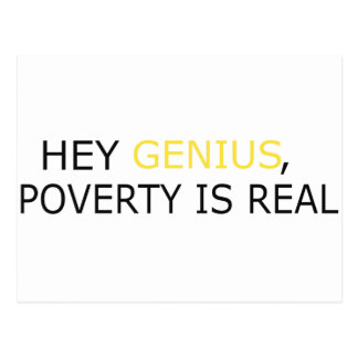Poverty Is Real Postcard