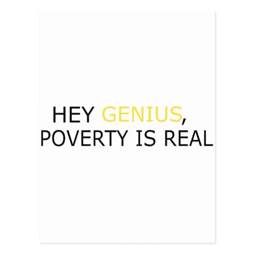Poverty Is Real Postcards