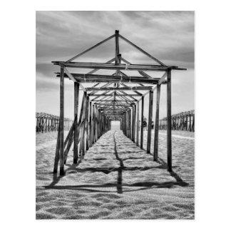 Povoa de Varzim beach in Portugal Postcard