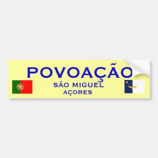 Povoacao Azores - pegatina para el parachoques Pegatina Para Auto