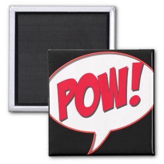 Pow! 2 Inch Square Magnet