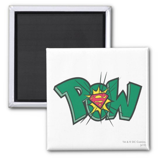 Pow 2 Inch Square Magnet
