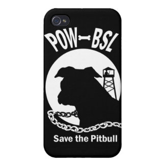 POW BSL Save the Pitbull Dog iPhone 4/4S Cover