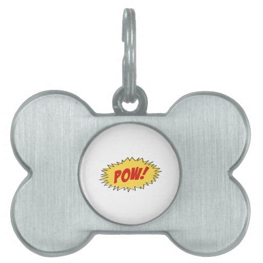 Pow Cartoon Pet Tags