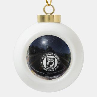 POW CERAMIC BALL CHRISTMAS ORNAMENT