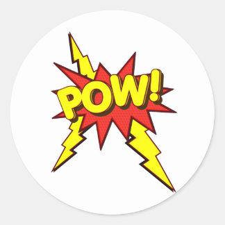 POW!!!! CLASSIC ROUND STICKER