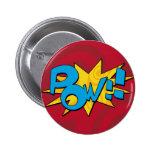 Pow Comic Book Badge Button