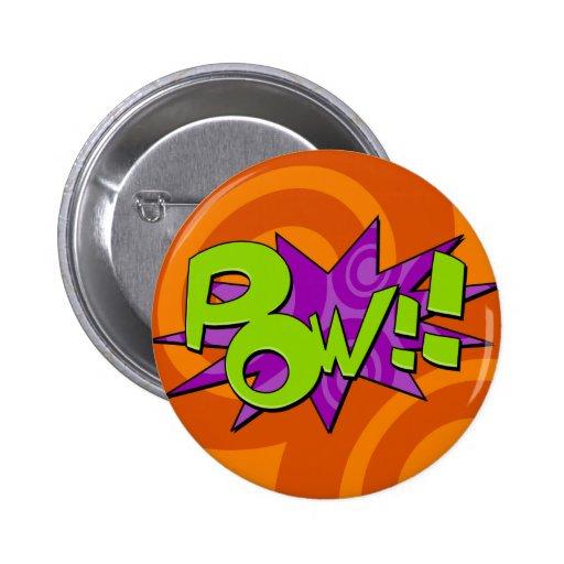 Pow Comic Book Badge Pins