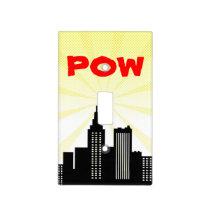 POW Comic Book Bedroom Superhero Boys Nursery Light Switch Cover