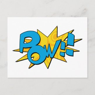 Pow Comic Book Postcard postcard