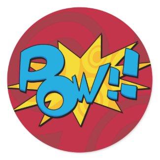 Pow Comic Book Sticker sticker