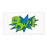 Pow Comic Book Sticker Label