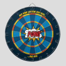 Pow Comic Sound Effect Dartboard with Custom Text