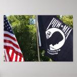 POW Flag poster