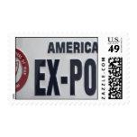 POW License Plateb Postage Stamp