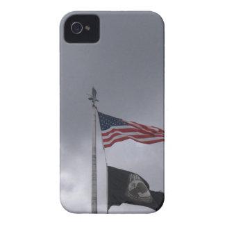 POW/MIA & American Flag iPhone 4 Case-Mate Case