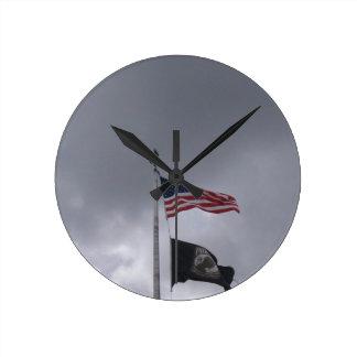POW MIA American Flag Wall Clock
