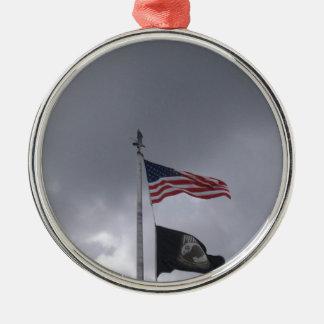 POW/MIA & American Flag Ornament