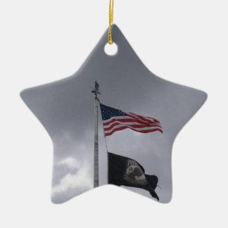 POW/MIA & American Flag Christmas Ornaments