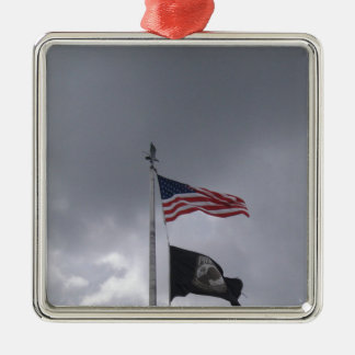 POW/MIA & American Flag Christmas Ornament