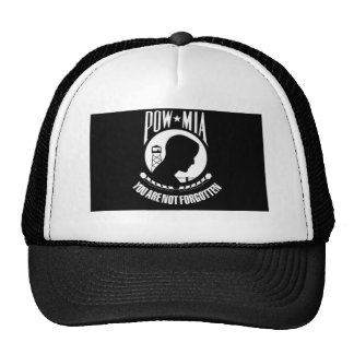POW-MIA Black/White Hat