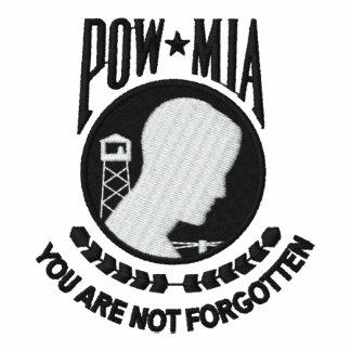 POW-MIA bordado KRW le no olvidan Camiseta Polo Bordada