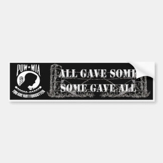 POW - MIA Bumper Sticker