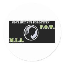 pow mia classic round sticker