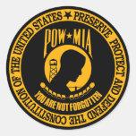 POW-MIA CLASSIC ROUND STICKER