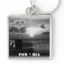 POW MIA Commemorative Keychain